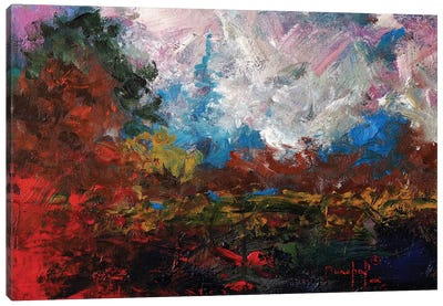 Burnt Orange Landscape Canvas Art Print