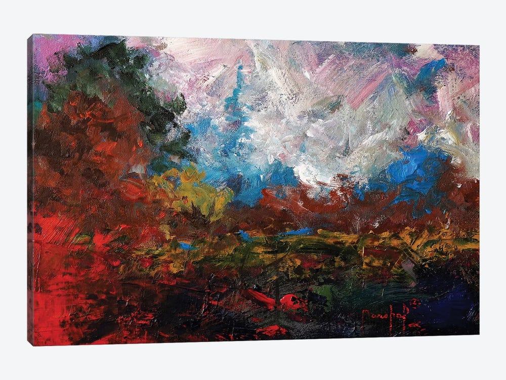 Burnt Orange Landscape by Joseph Marshal Foster 1-piece Canvas Art