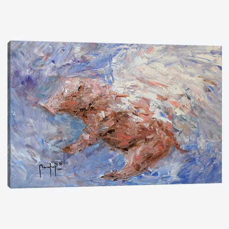Heavenly Pig Canvas Print #JMF15} by Joseph Marshal Foster Canvas Print