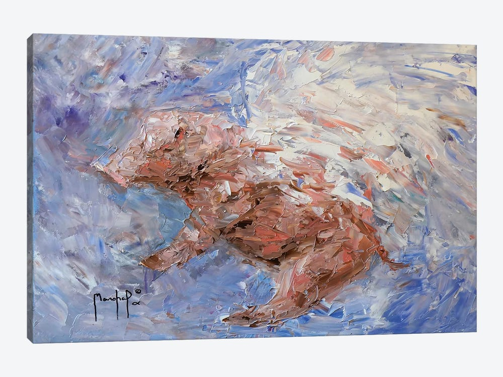 Heavenly Pig by Joseph Marshal Foster 1-piece Canvas Wall Art
