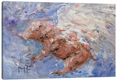 Heavenly Pig Canvas Art Print