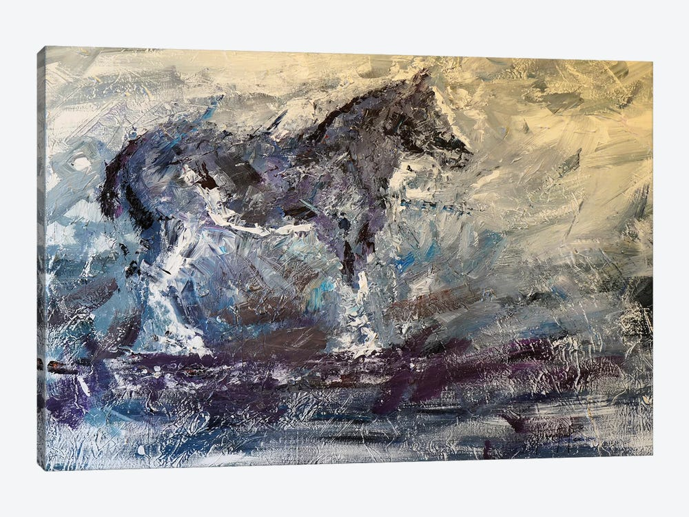Abstract Horse I by Joseph Marshal Foster 1-piece Canvas Art