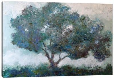 Mountaintop Tree Canvas Art Print