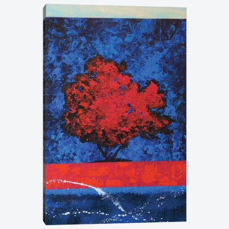 Red Tree Canvas Print #JMF31} by Joseph Marshal Foster Canvas Art