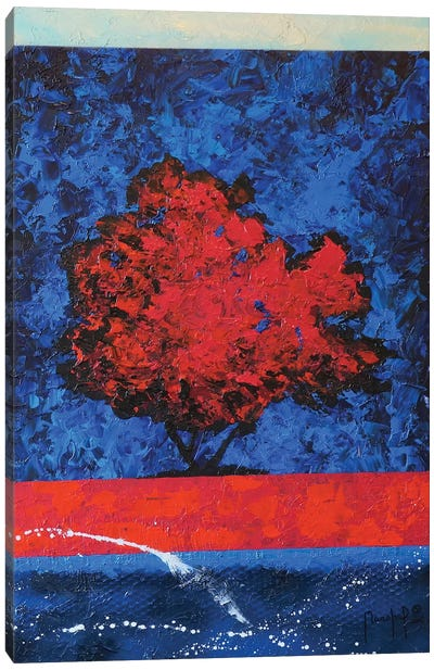Red Tree Canvas Art Print