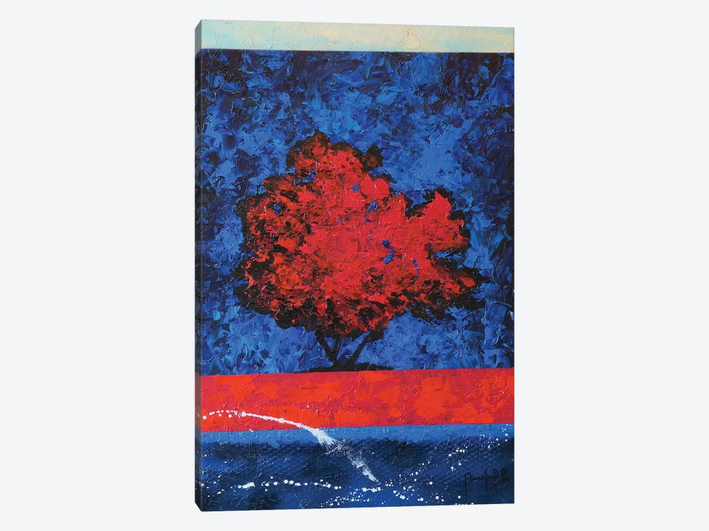 Red Tree by Joseph Marshal Foster 1-piece Canvas Wall Art