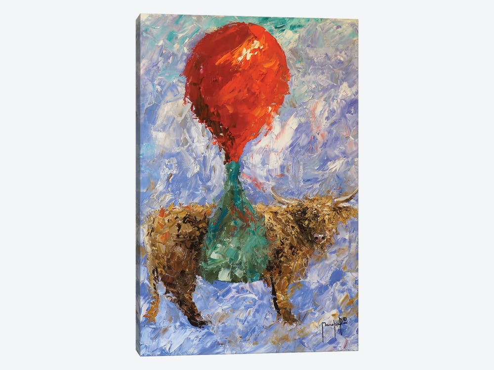 Steer With Balloon 1-piece Canvas Print