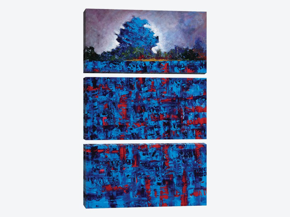 Blue Daze by Joseph Marshal Foster 3-piece Canvas Print