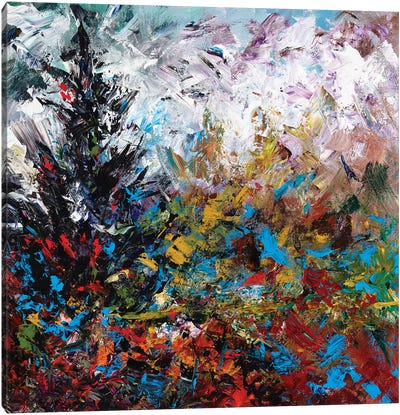 Colorful Winter Canvas Art Print