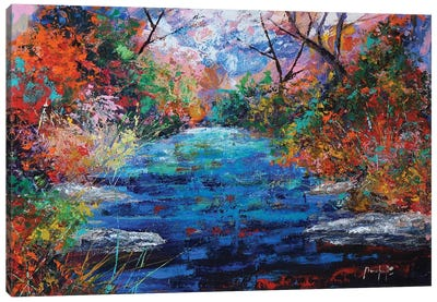 Autumn Pond Canvas Art Print