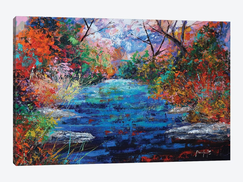 Autumn Pond by Joseph Marshal Foster 1-piece Art Print
