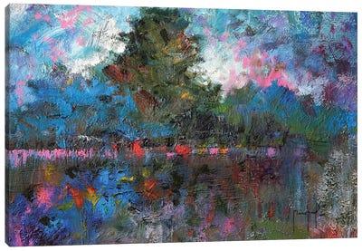 Blue Landscape Canvas Art Print