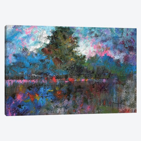 Blue Landscape Canvas Print #JMF8} by Joseph Marshal Foster Canvas Artwork