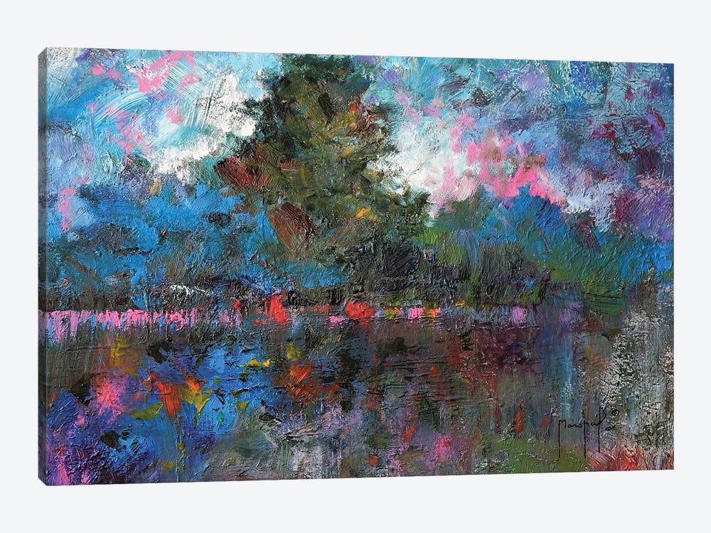 Blue Landscape by Joseph Marshal Foster 1-piece Canvas Print