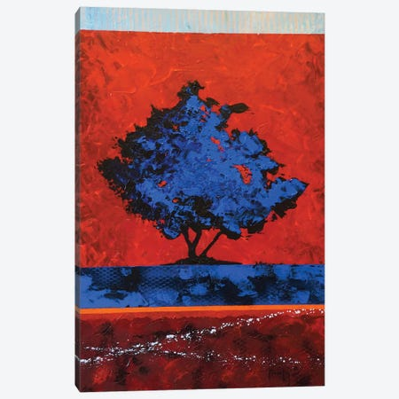 Blue Tree Canvas Print #JMF9} by Joseph Marshal Foster Canvas Wall Art