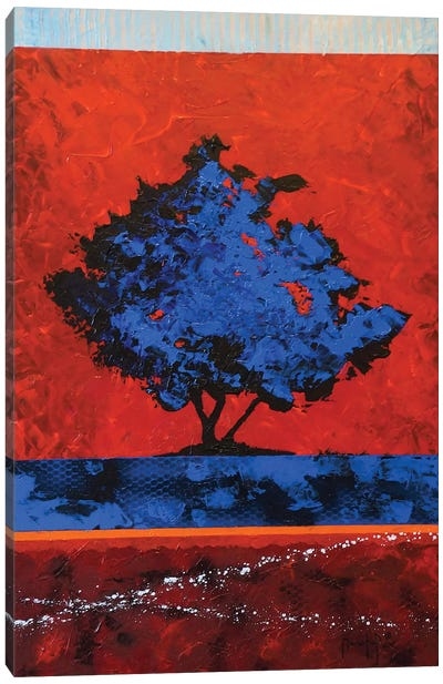 Blue Tree Canvas Art Print