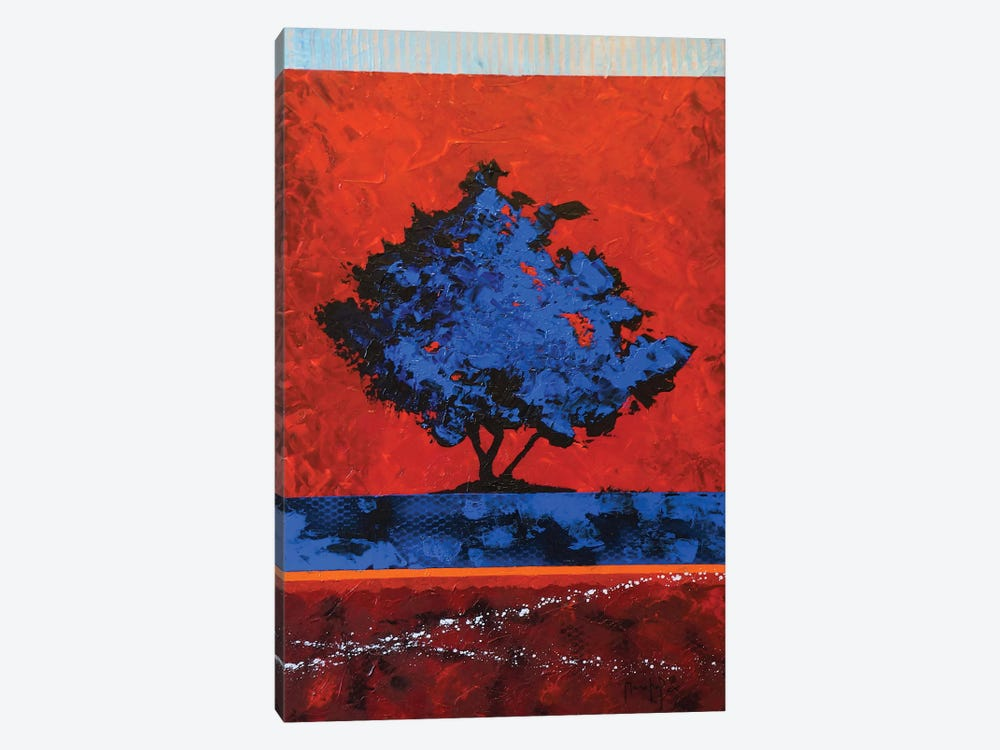 Blue Tree by Joseph Marshal Foster 1-piece Canvas Artwork