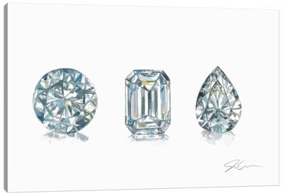 Diamonds Canvas Art Print