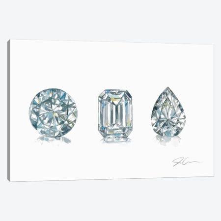 Diamonds 3-Piece Canvas #JMG10} by Jackie Graham Canvas Print