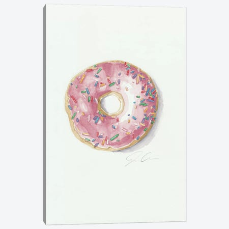 Donut Worry, Be Happy Canvas Print #JMG14} by Jackie Graham Canvas Wall Art