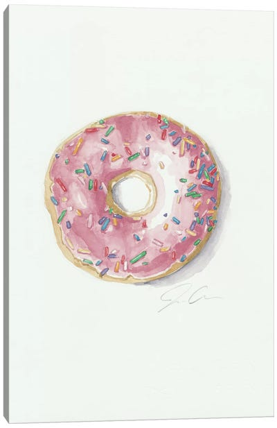 Donut Worry, Be Happy Canvas Print #JMG14