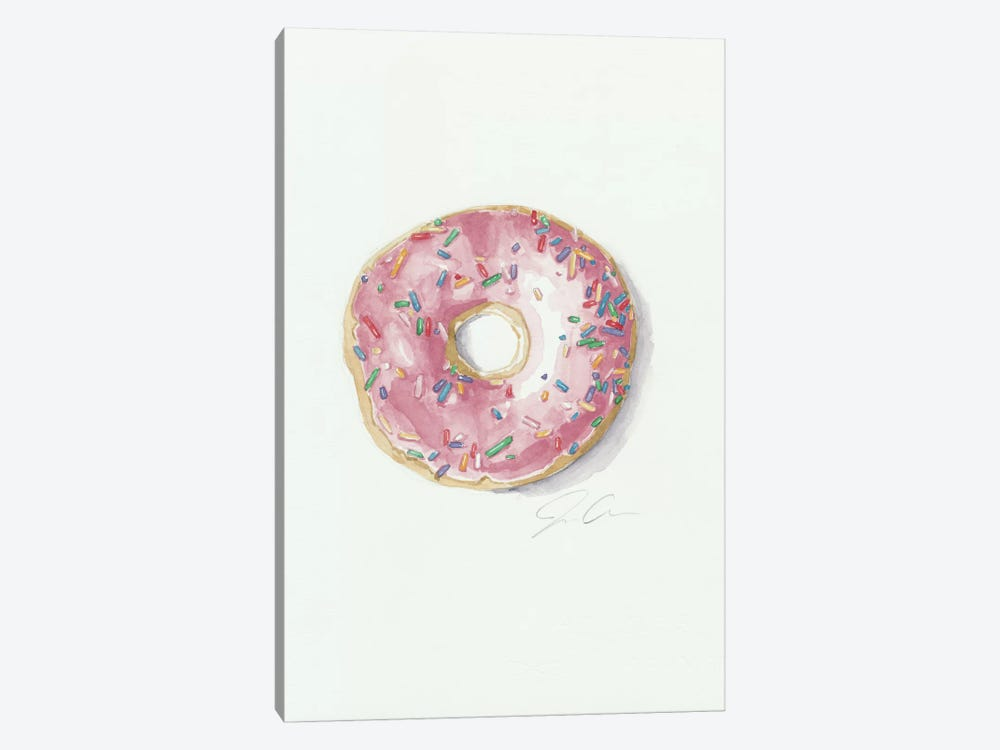 Donut Worry, Be Happy by Jackie Graham 1-piece Canvas Art