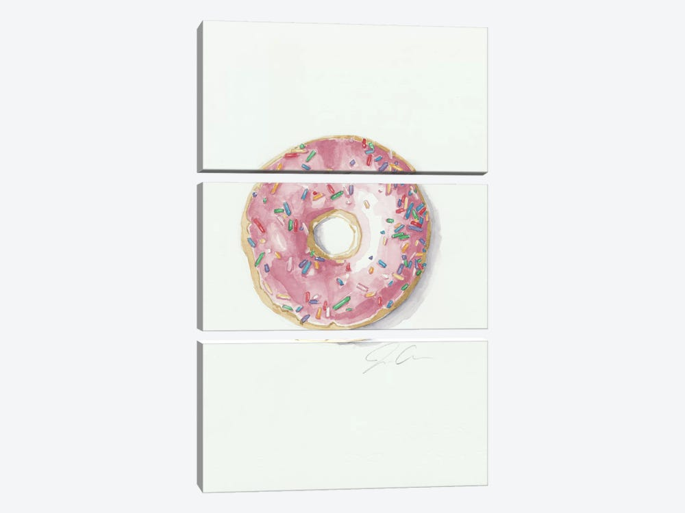 Donut Worry, Be Happy by Jackie Graham 3-piece Canvas Artwork