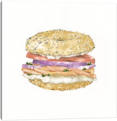 Lox Bagel Canvas Art Print