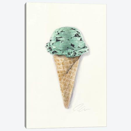 Mint Chip Canvas Print #JMG20} by Jackie Graham Canvas Art