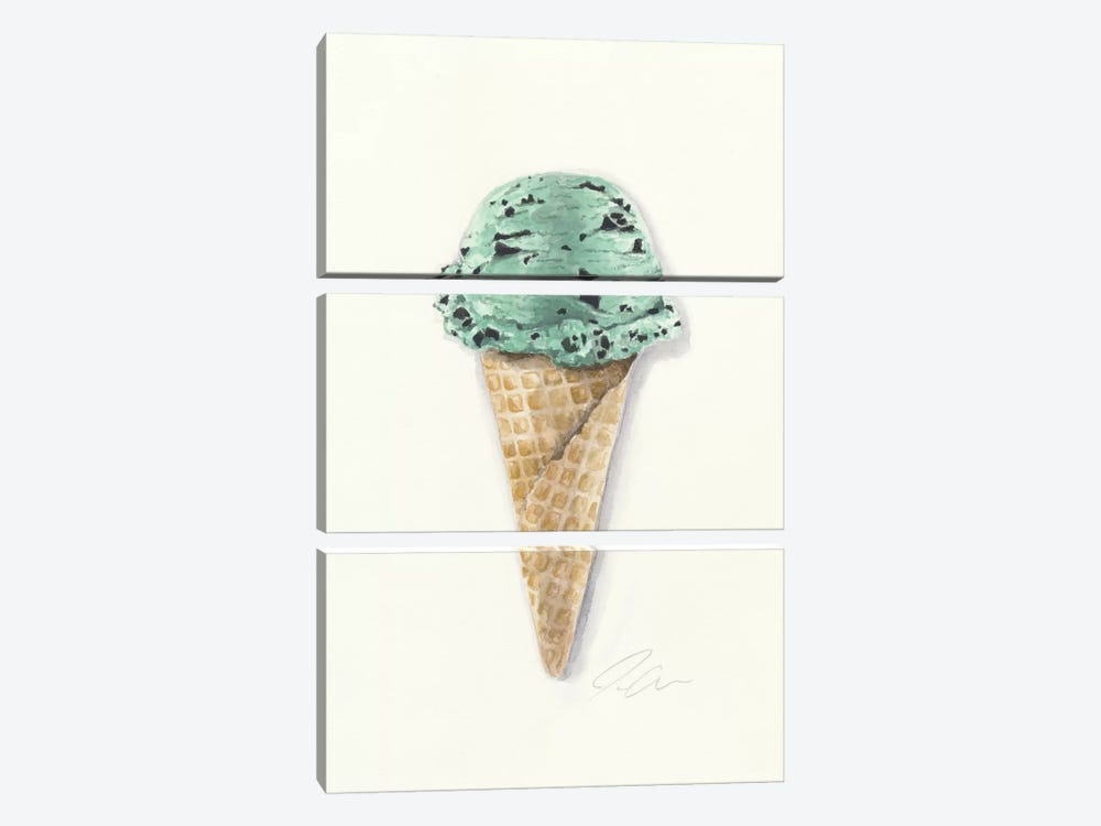Mint Chip by Jackie Graham 3-piece Art Print