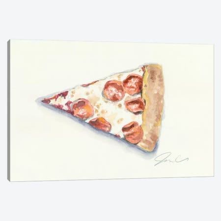 Pizza Canvas Print #JMG24} by Jackie Graham Art Print