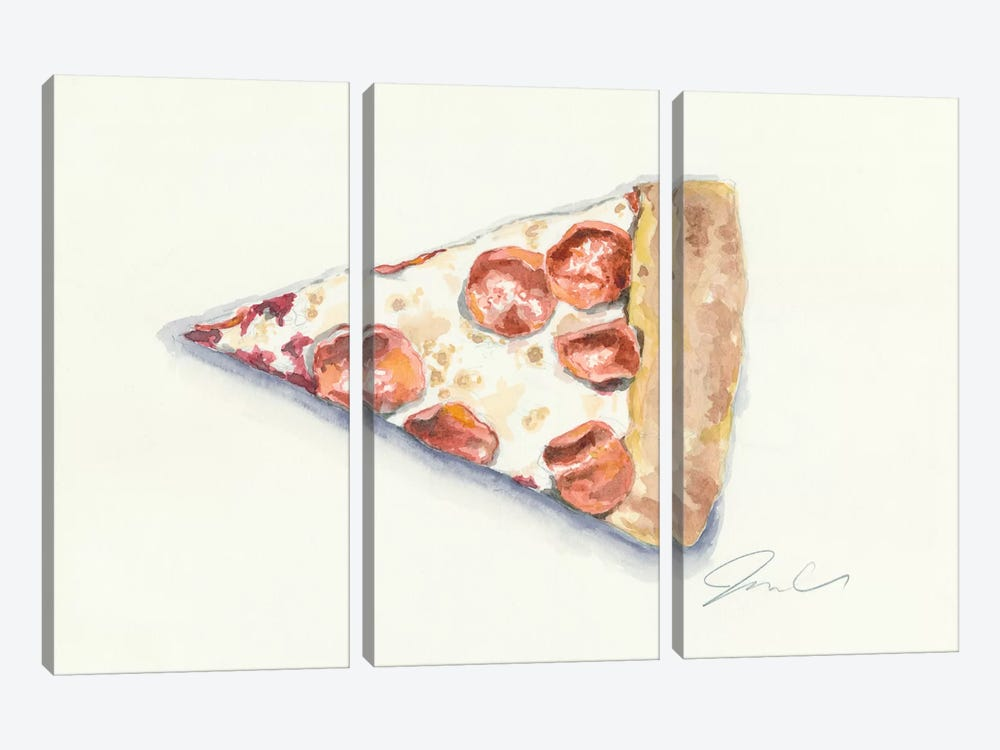 Pizza by Jackie Graham 3-piece Art Print