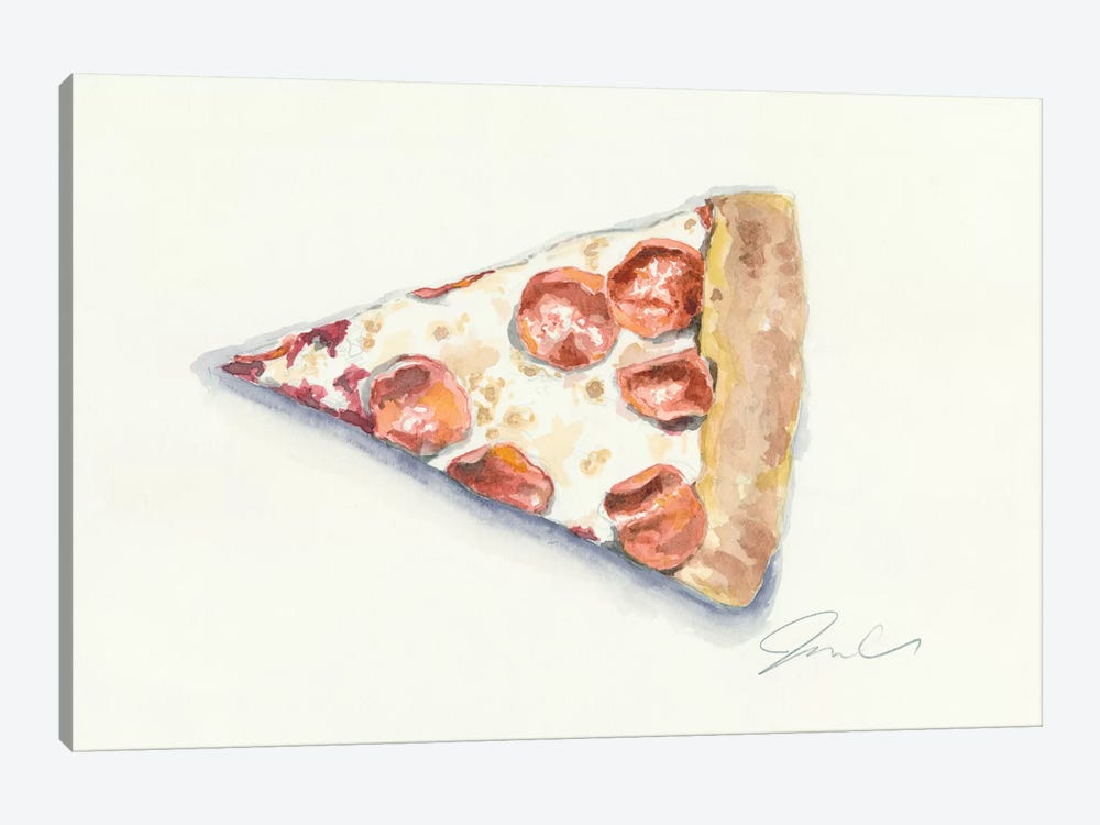 Pizza by Jackie Graham 1-piece Canvas Print