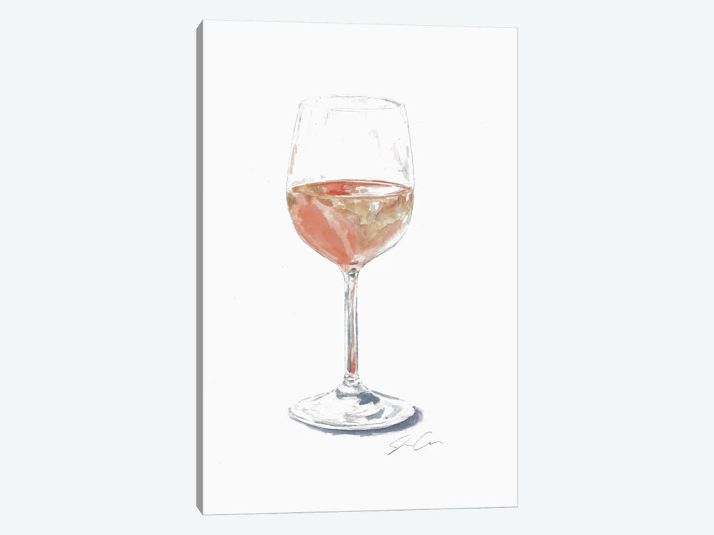 Rose Wine by Jackie Graham 1-piece Canvas Art