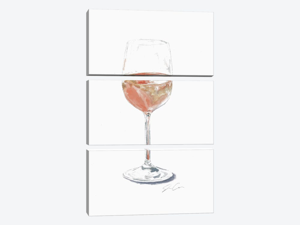 Rose Wine by Jackie Graham 3-piece Canvas Wall Art