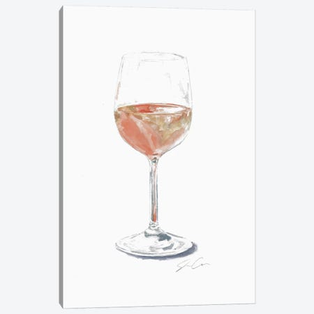 Rose Wine 3-Piece Canvas #JMG27} by Jackie Graham Canvas Print