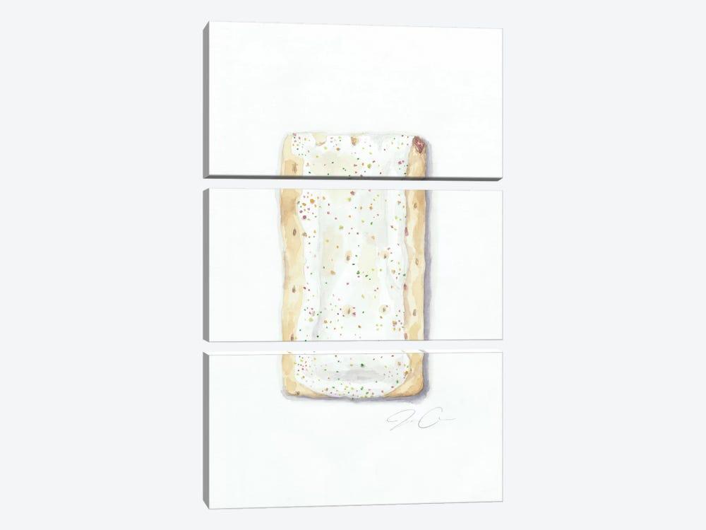 Strawberry Pop-Tart by Jackie Graham 3-piece Canvas Art Print