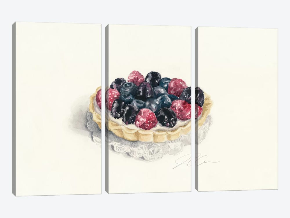 Tart by Jackie Graham 3-piece Canvas Art