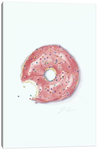 This Is Not A Donut Whole Canvas Art Print