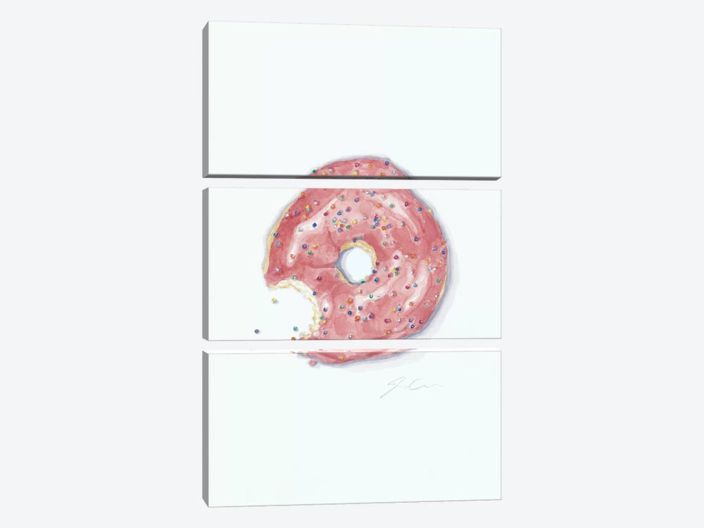This Is Not A Donut Whole by Jackie Graham 3-piece Canvas Artwork