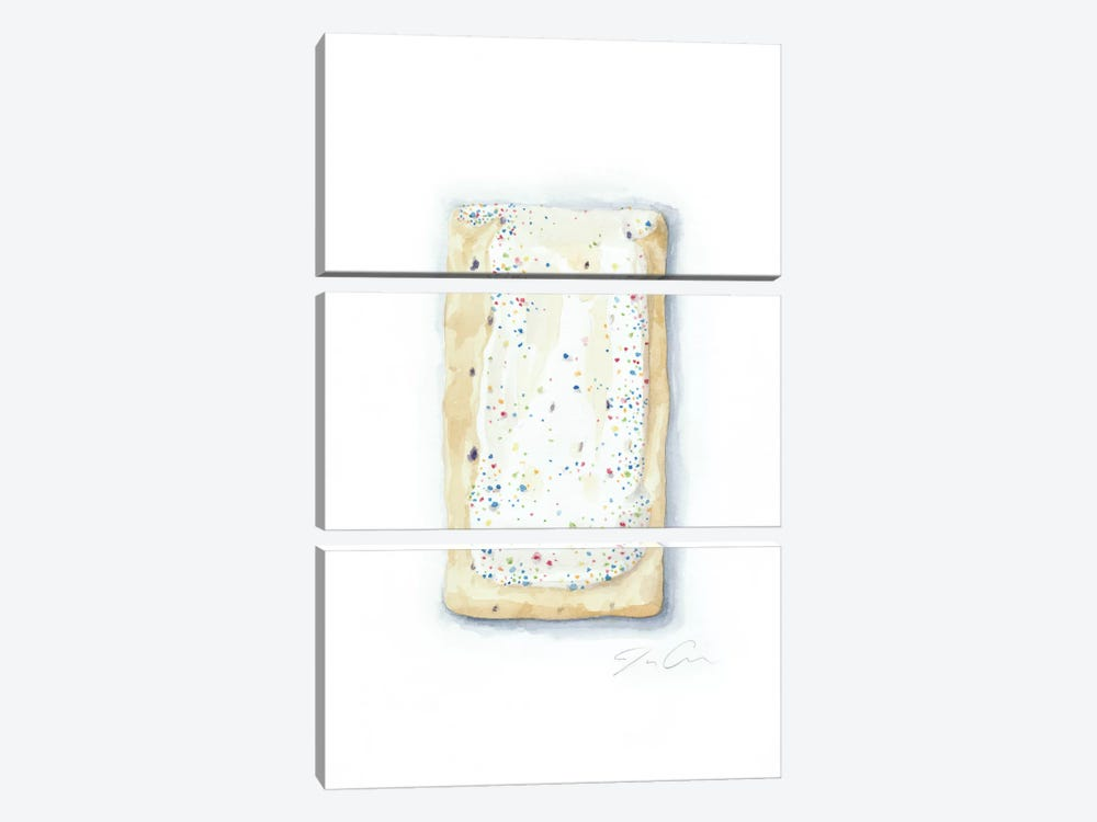 Blueberry Pop-Tart by Jackie Graham 3-piece Canvas Art