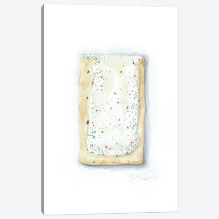 Blueberry Pop-Tart 3-Piece Canvas #JMG4} by Jackie Graham Canvas Artwork