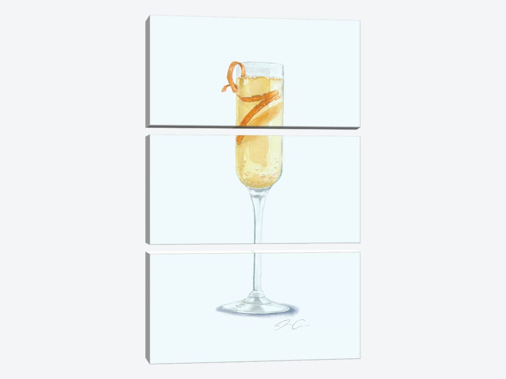 Brunch, Mimosa, Repeat by Jackie Graham 3-piece Art Print