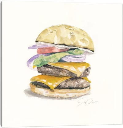 Cheeseburger Canvas Art Print