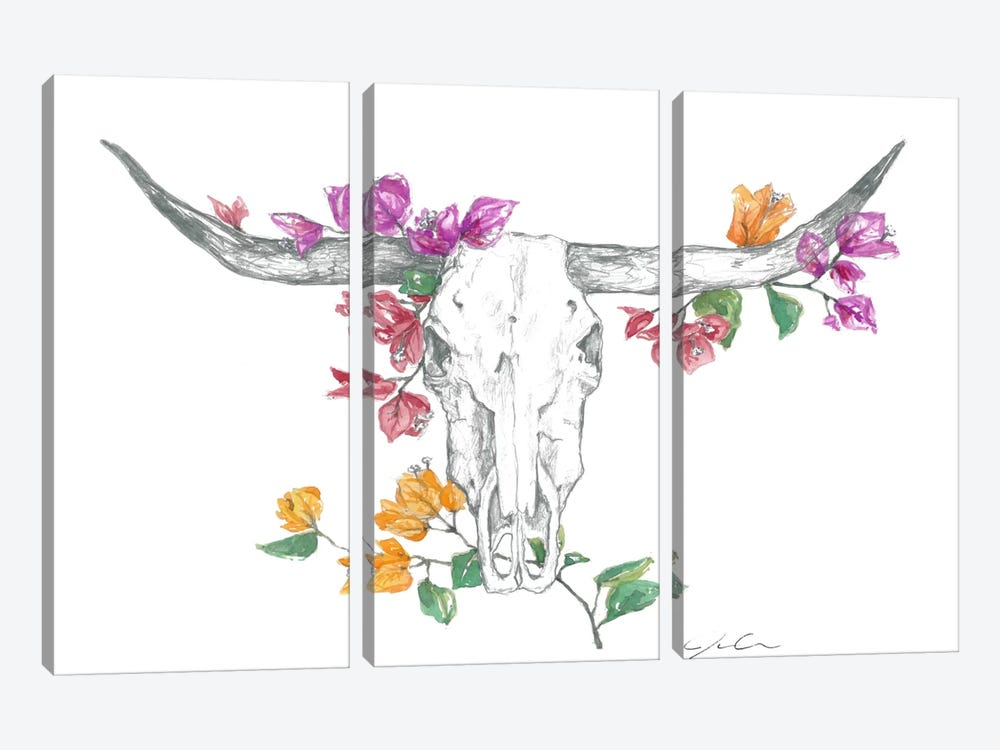 Cow Skull II by Jackie Graham 3-piece Art Print