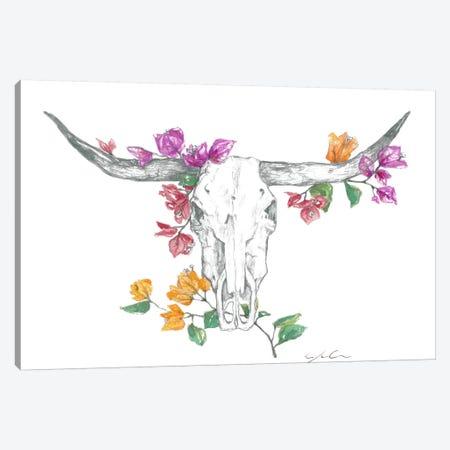 Cow Skull II Canvas Print #JMG9} by Jackie Graham Canvas Print