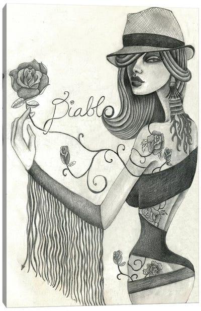 Diablo (Drawing) Canvas Art Print