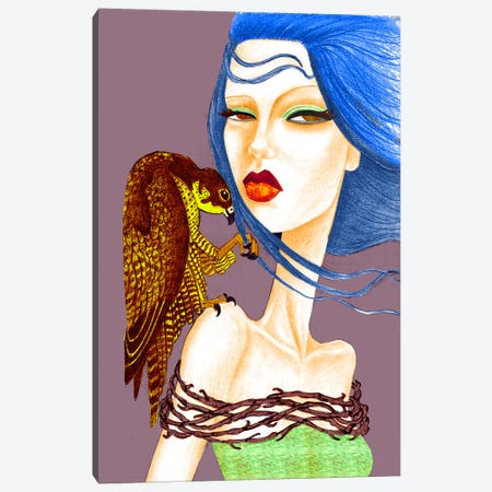 Falcon Canvas Print #JMI19} by Jami Goddess Canvas Art Print