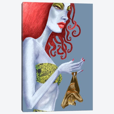 Bat Canvas Print #JMI1} by Jami Goddess Art Print