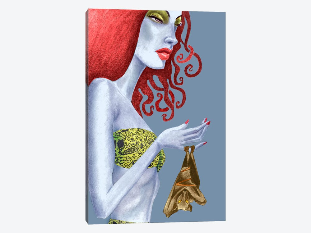 Bat by Jami Goddess 1-piece Canvas Art Print